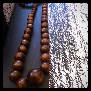 Other - Deep brown earthy wood necklace